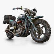 Old Dirt Bike 3d model