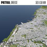 Patra Greece 50x50km 3d model