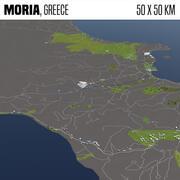 Moria Grecia 50x50km 3d model