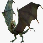 Dragon Wyvern attrezzato con 4 skin 3d model