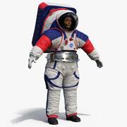 Vrouwelijke Astronaut NASA xEMU Ruimtepak 3d model