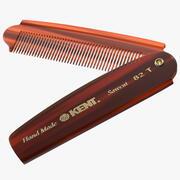 Kent Folding Pocket Comb Brown 3d model