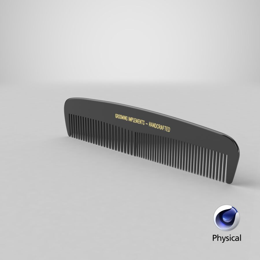 Pocket Comb Black royalty-free 3d model - Preview no. 1