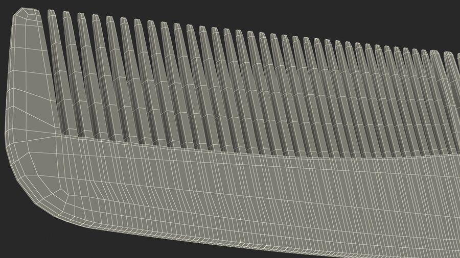 Pocket Comb Black royalty-free 3d model - Preview no. 21