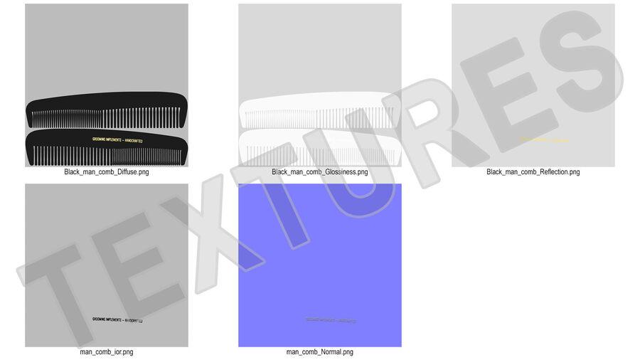 Pocket Comb Black royalty-free 3d model - Preview no. 14