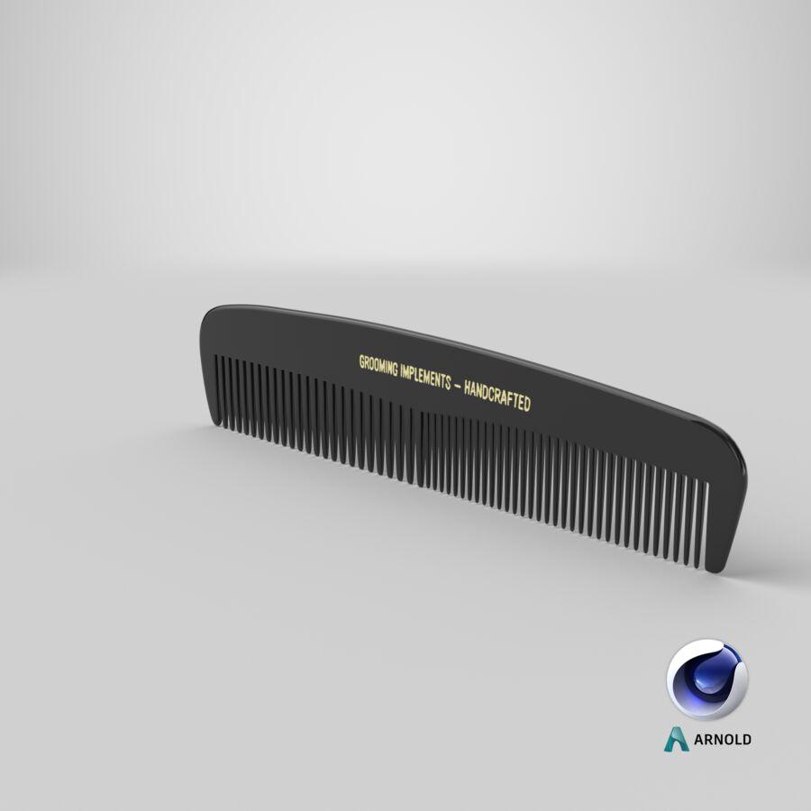 Pocket Comb Black royalty-free 3d model - Preview no. 2