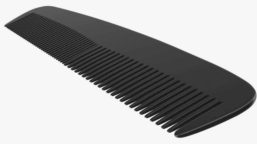 Pocket Comb Black royalty-free 3d model - Preview no. 7