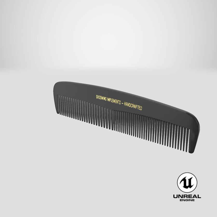 Pocket Comb Black royalty-free 3d model - Preview no. 4