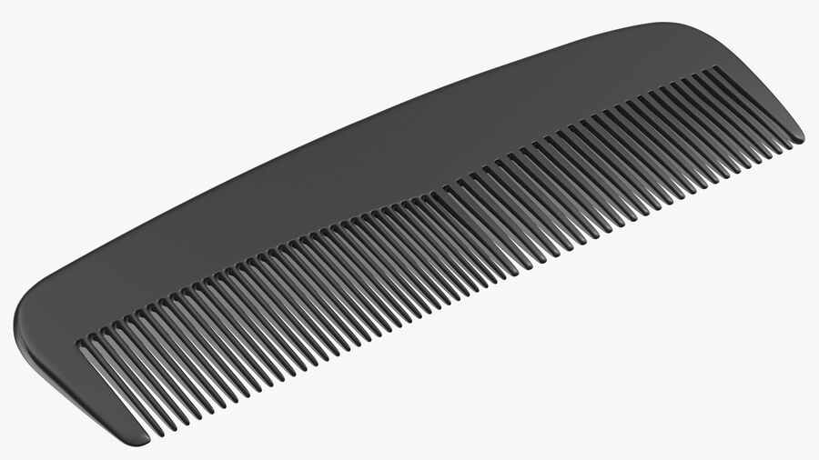 Pocket Comb Black royalty-free 3d model - Preview no. 8