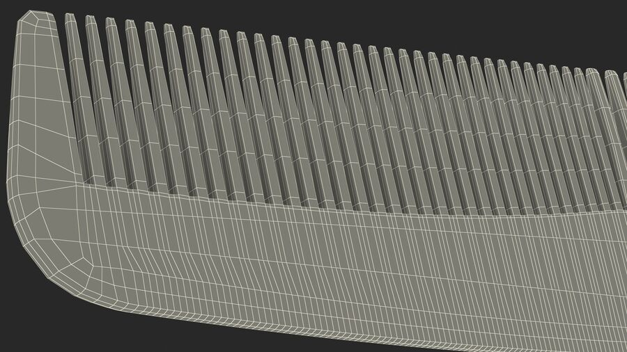 Pocket Comb Brown royalty-free 3d model - Preview no. 22