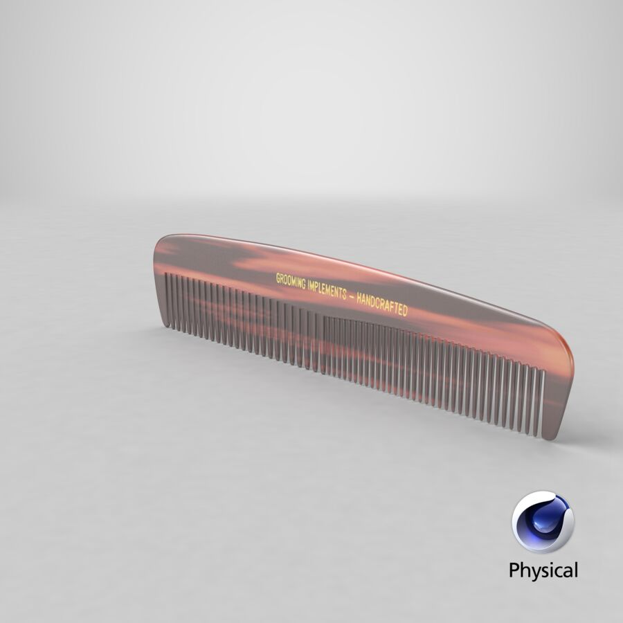 Pocket Comb Brown royalty-free 3d model - Preview no. 23
