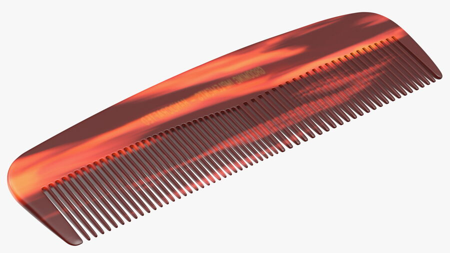 Pocket Comb Brown royalty-free 3d model - Preview no. 9