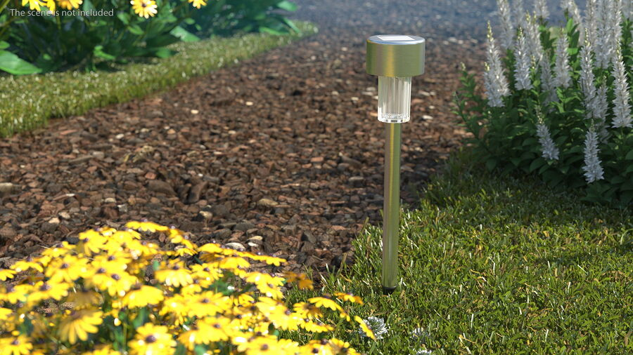 Solar Garden Pathway Light royalty-free 3d model - Preview no. 3