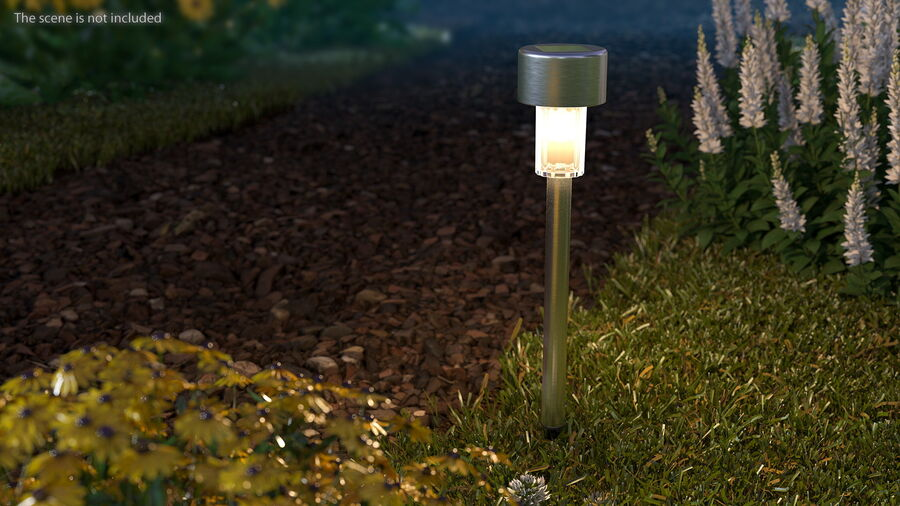 Solar Garden Pathway Light royalty-free 3d model - Preview no. 5