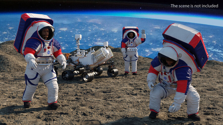 Скафандр NASA Astronaut Artemis xEMU Rigged 3D Модель $249 - .max - Free3D