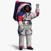 Posa di saluti dell'astronauta della NASA della tuta spaziale xEMU 3d model