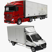 Box Cargo Truck Colleciton 3d model
