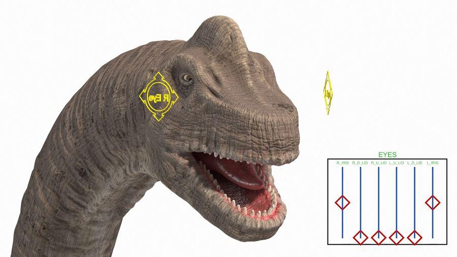Brachiosaurus Altithorax aparejado royalty-free modelo 3d - Preview no. 4