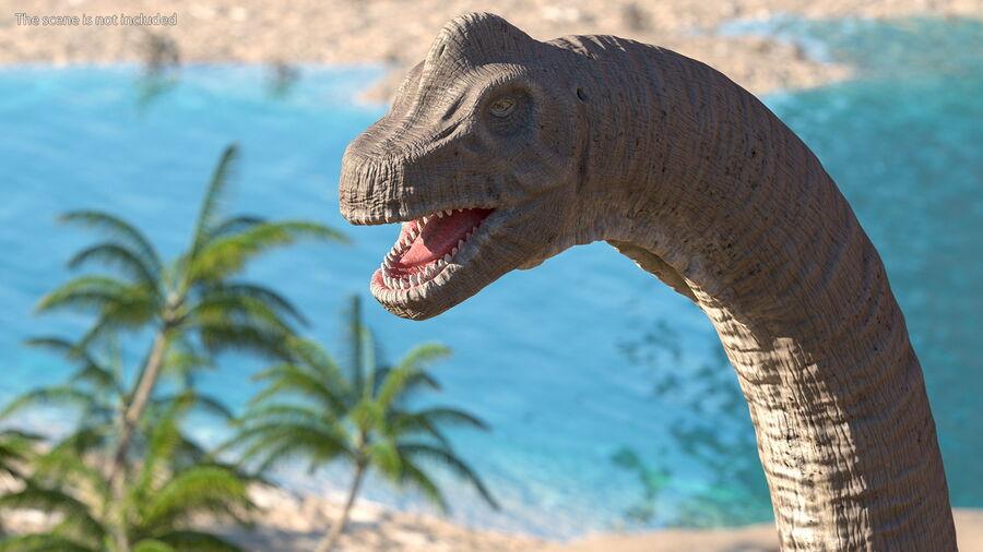 Brachiosaurus Altithorax aparejado royalty-free modelo 3d - Preview no. 7