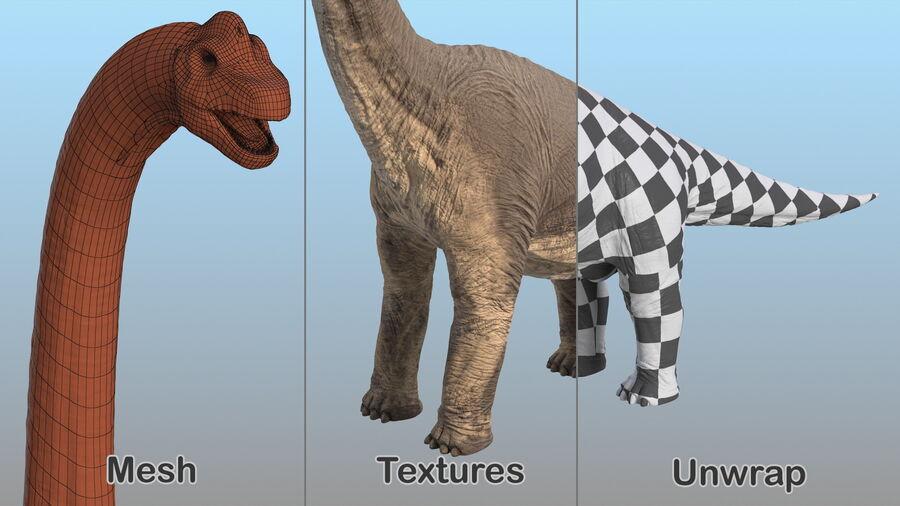 Brachiosaurus Altithorax aparejado royalty-free modelo 3d - Preview no. 23