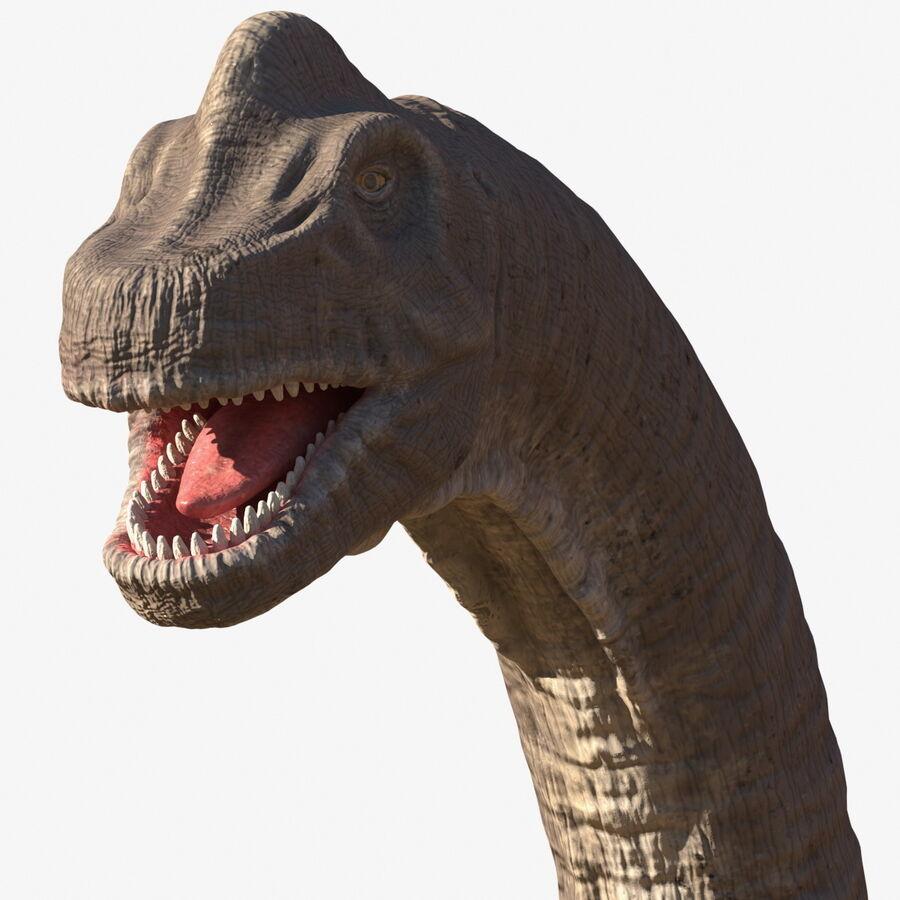 Brachiosaurus Altithorax aparejado royalty-free modelo 3d - Preview no. 1