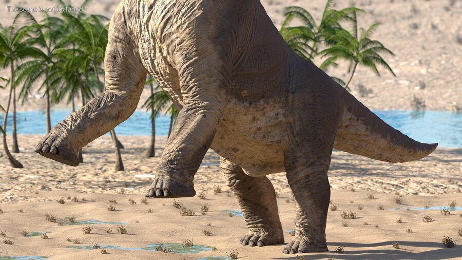 Brachiosaurus Altithorax aparejado royalty-free modelo 3d - Preview no. 10