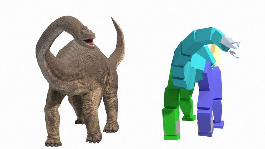 Brachiosaurus Altithorax aparejado royalty-free modelo 3d - Preview no. 3