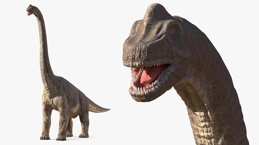 Brachiosaurus Altithorax aparejado royalty-free modelo 3d - Preview no. 2