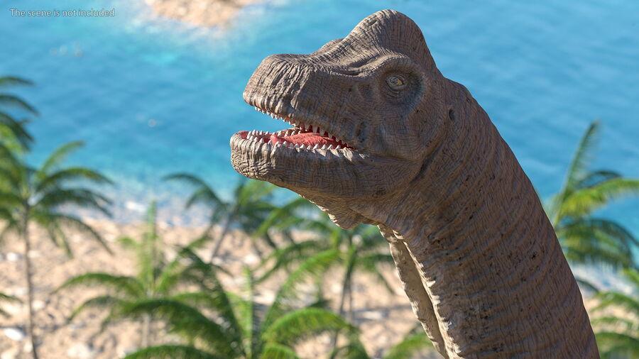 Brachiosaurus Altithorax aparejado royalty-free modelo 3d - Preview no. 8