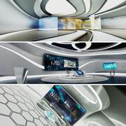 미래 Sci-Fi 뉴스 스튜디오 컬렉션 3d model