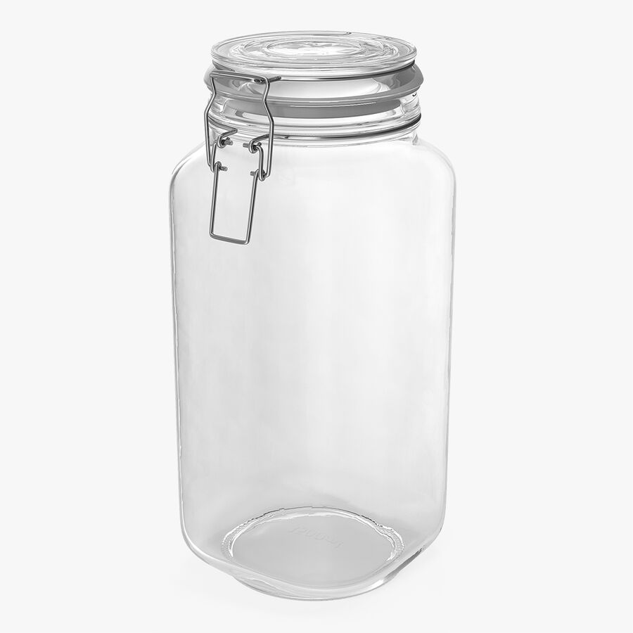 Clip Top Glass Storage Preserving Jar royalty-free 3d model - Preview no. 1