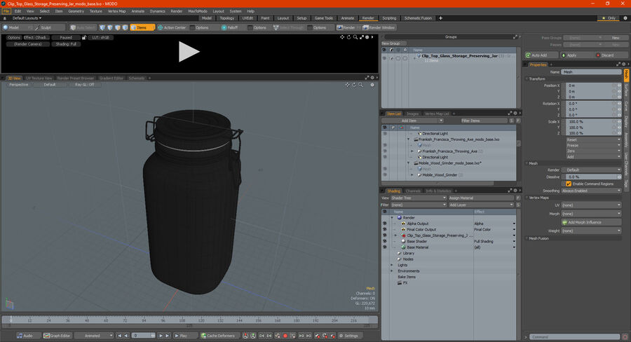 Clip Top Glass Storage Preserving Jar royalty-free 3d model - Preview no. 17