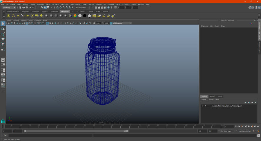 Clip Top Glass Storage Preserving Jar royalty-free 3d model - Preview no. 15