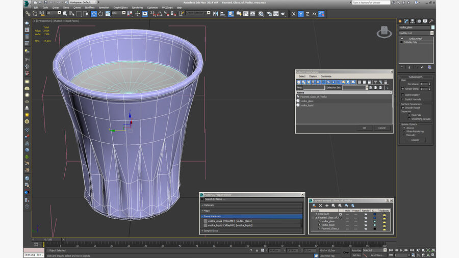 Faceted Glass of Vodka royalty-free 3d model - Preview no. 17