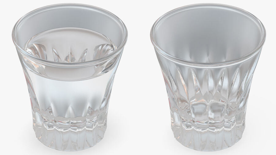 Faceted Glass of Vodka royalty-free 3d model - Preview no. 9