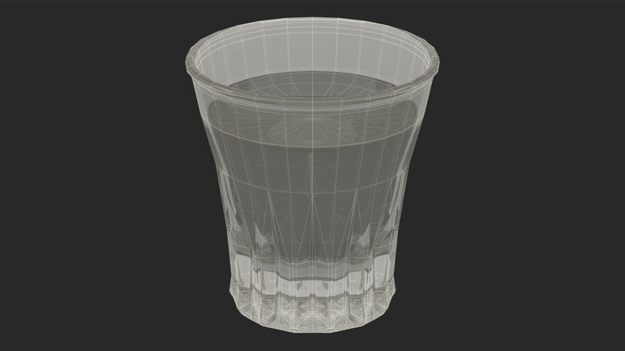 Faceted Glass of Vodka royalty-free 3d model - Preview no. 22