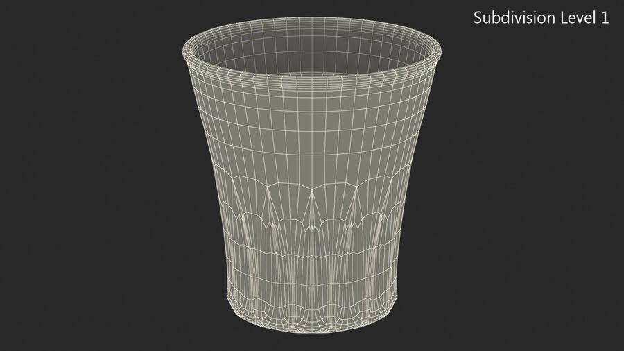 Faceted Glass of Vodka royalty-free 3d model - Preview no. 13