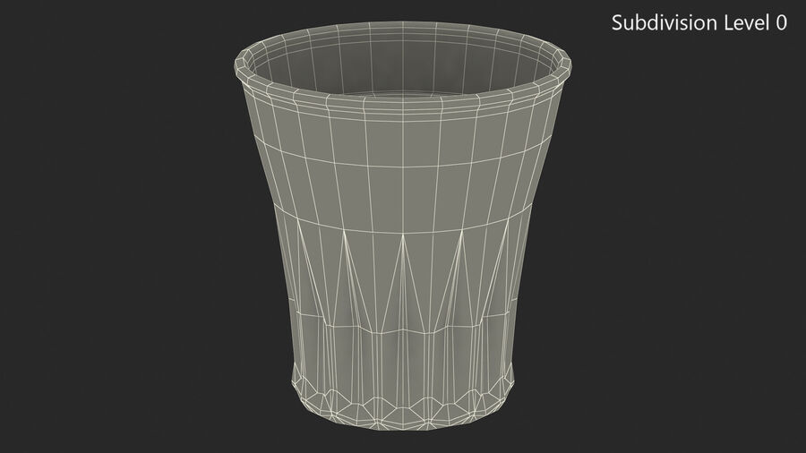 Faceted Glass of Vodka royalty-free 3d model - Preview no. 12