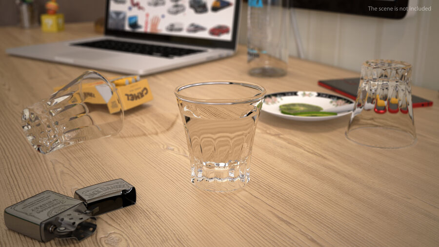 Faceted Glass of Vodka royalty-free 3d model - Preview no. 4