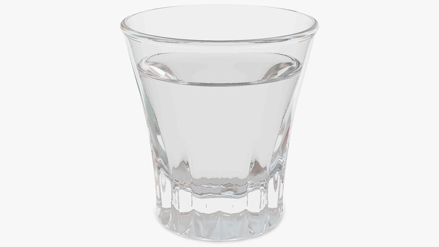 Faceted Glass of Vodka royalty-free 3d model - Preview no. 2