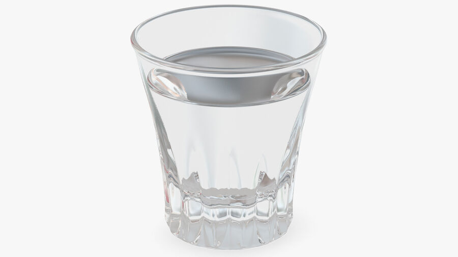 Faceted Glass of Vodka royalty-free 3d model - Preview no. 5