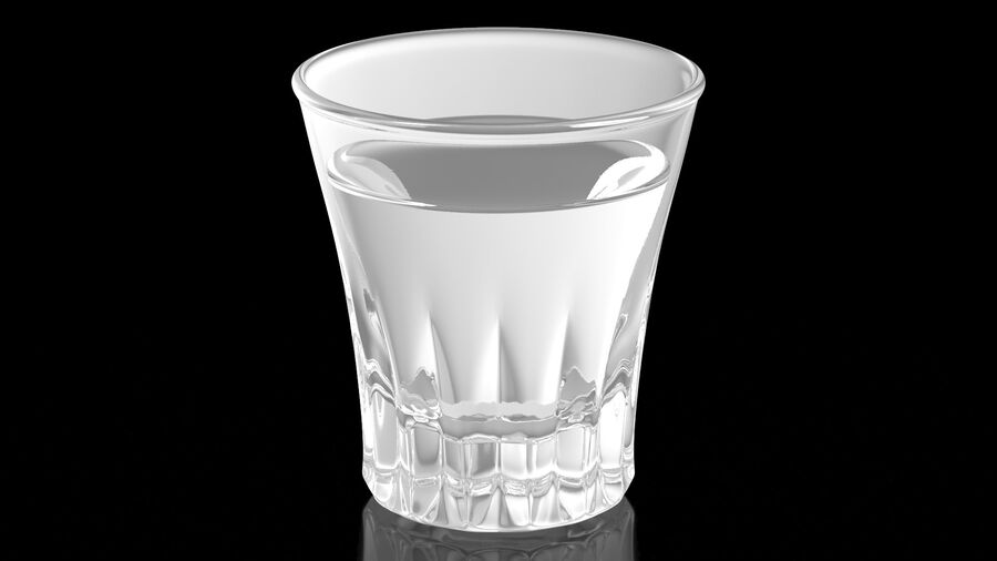 Faceted Glass of Vodka royalty-free 3d model - Preview no. 3