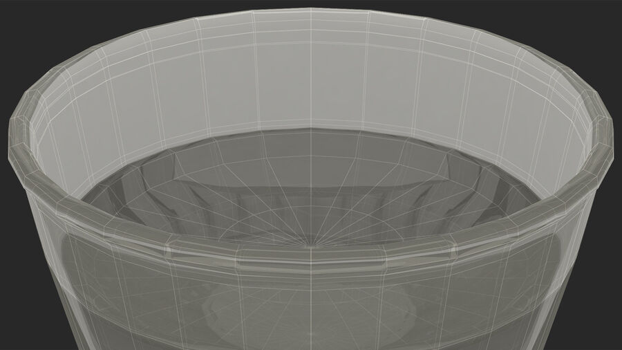 Faceted Glass of Vodka royalty-free 3d model - Preview no. 24