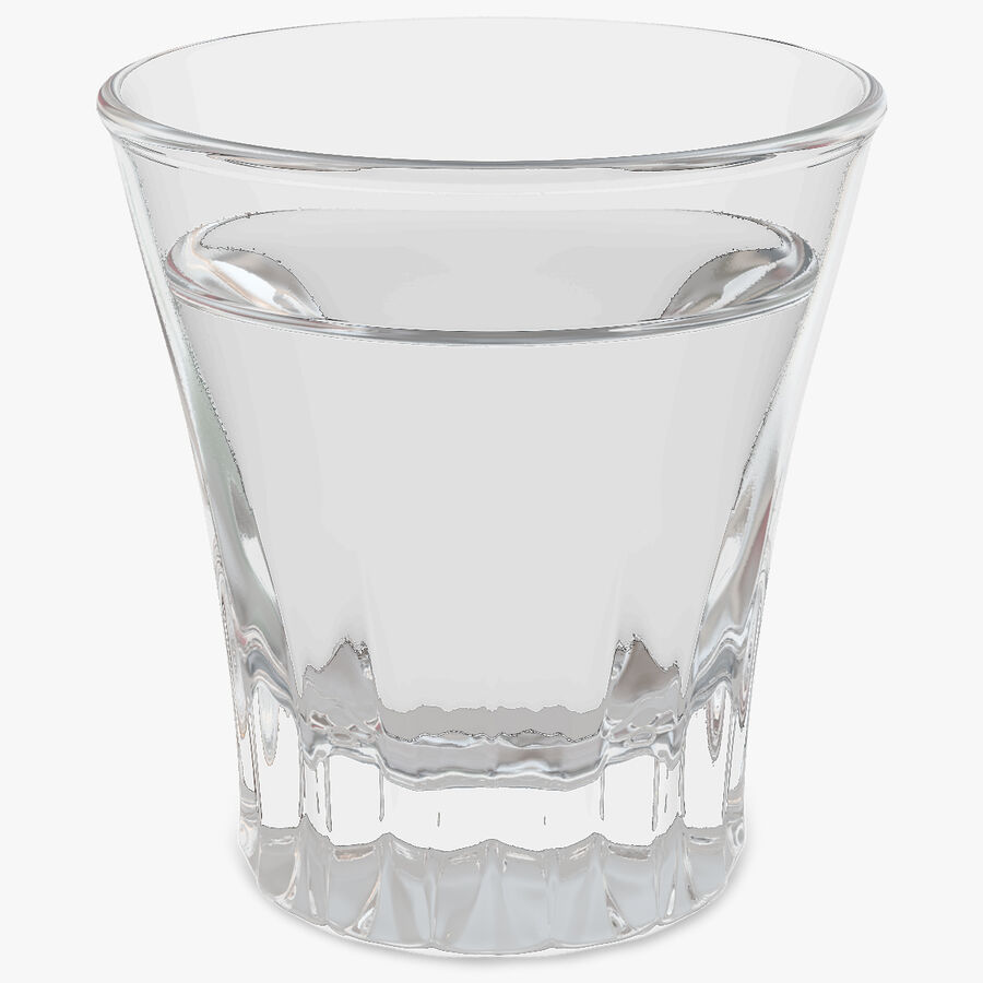 Faceted Glass of Vodka royalty-free 3d model - Preview no. 1