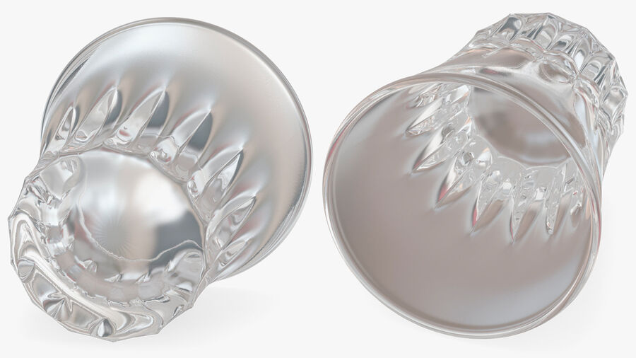 Faceted Glass of Vodka royalty-free 3d model - Preview no. 8