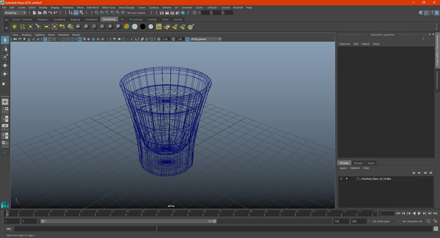 Faceted Glass of Vodka royalty-free 3d model - Preview no. 19