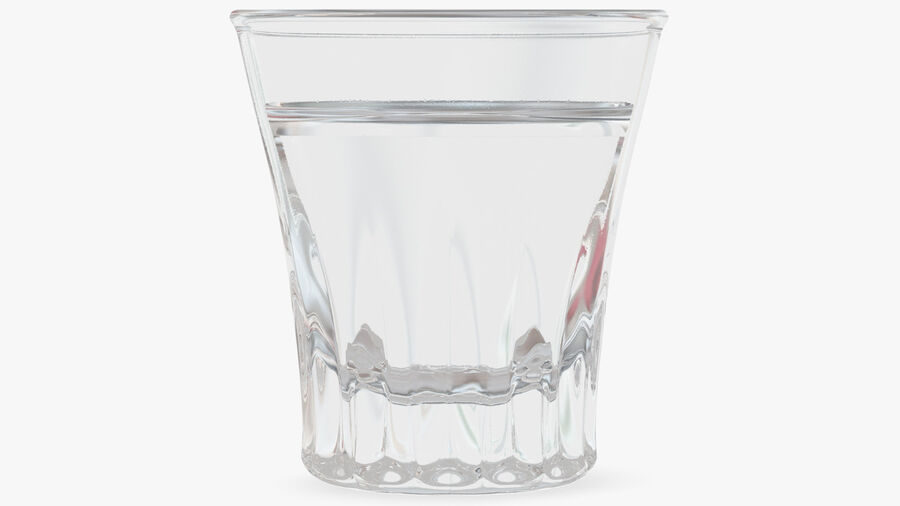 Faceted Glass of Vodka royalty-free 3d model - Preview no. 6