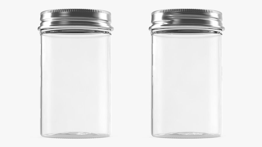 Kitchen Storage Glass Jar with Steel Lid royalty-free 3d model - Preview no. 2