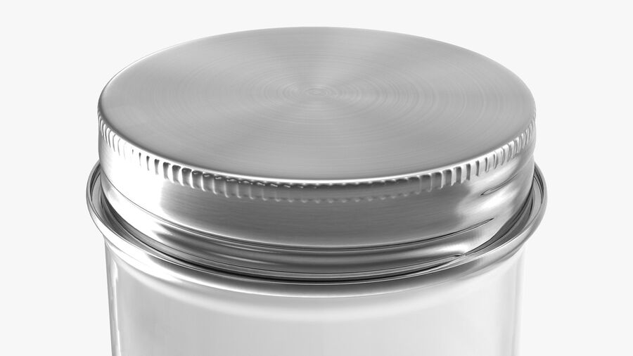 Kitchen Storage Glass Jar with Steel Lid royalty-free 3d model - Preview no. 8