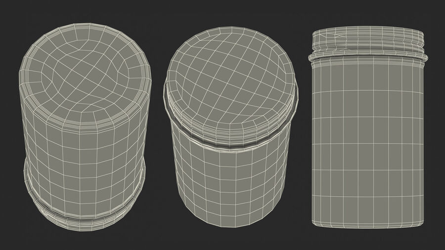 Kitchen Storage Glass Jar with Steel Lid royalty-free 3d model - Preview no. 20